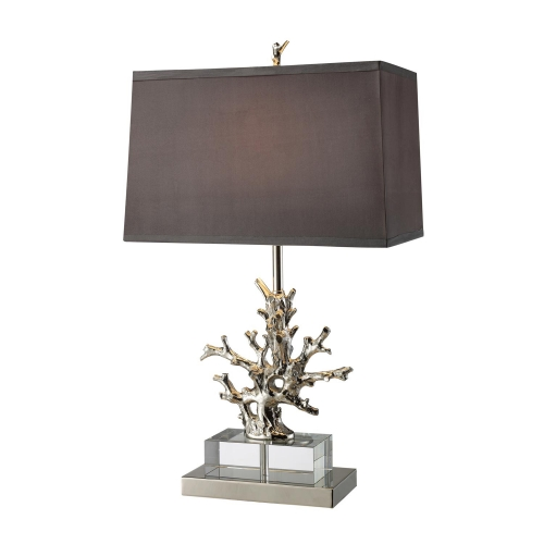 D1867 Covington Table Lamp - Polished Nickel and Clear Crystal