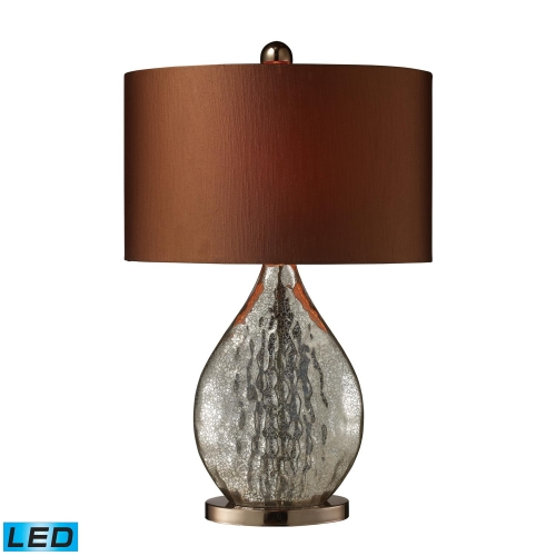 D1889-LED Sovereign Table Lamp - Antique Mercury Glass with Coffee Plating