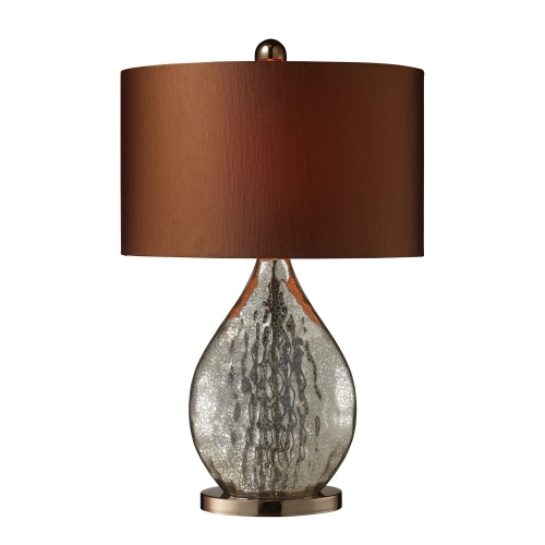 D1889 Sovereign Table Lamp - Antique Mercury Glass with Coffee Plating