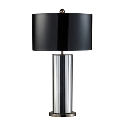 D1893 Shreve Table Lamp - Mirrored and Black Nickel
