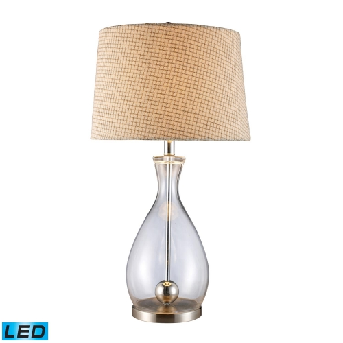 D1975-LED Longport Table Lamp - Clear Glass and Chrome
