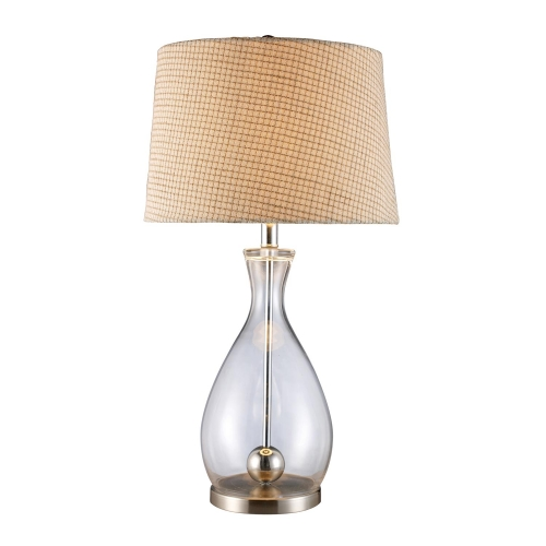 D1975 Longport Table Lamp - Clear Glass and Chrome