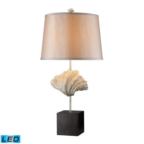 D1976-LED Edgewater Table Lamp - Oyster Shell and Dark Bronze