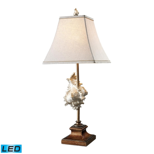 D1979-LED Delray Table Lamp - Conch Shell and Bronze