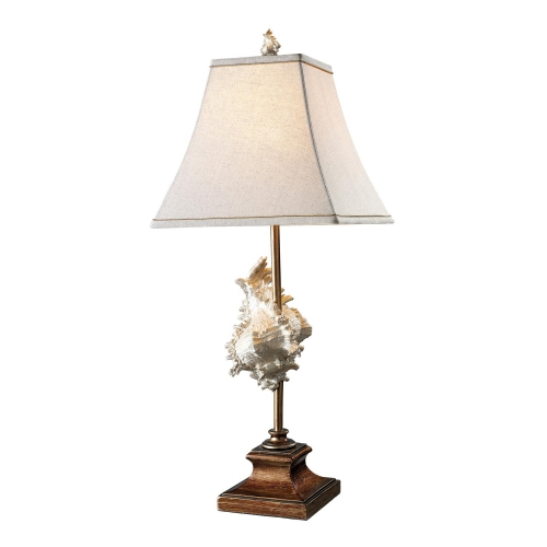 D1979 Delray Table Lamp - Conch Shell and Bronze