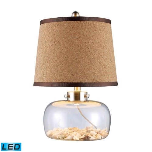 D1981-LED Margate Table Lamp - Clear Glass and Shells