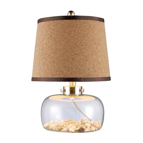 D1981 Margate Table Lamp - Clear Glass and Shells