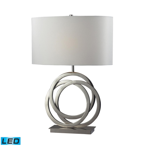 D2058-LED Trinity Table Lamp - Polished Nickel