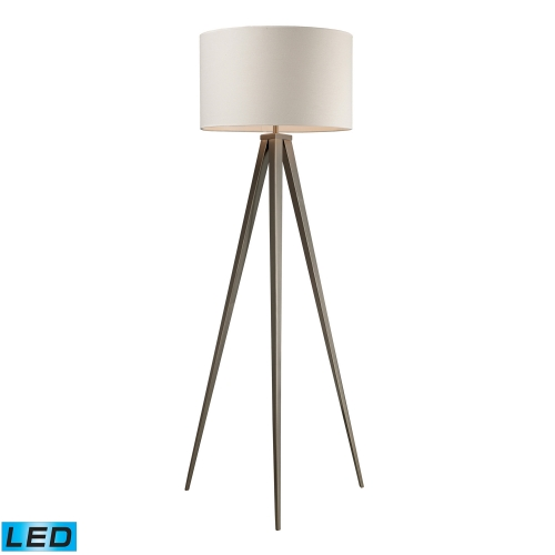 D2121-LED Salford Floor Lamp - Satin Nickel