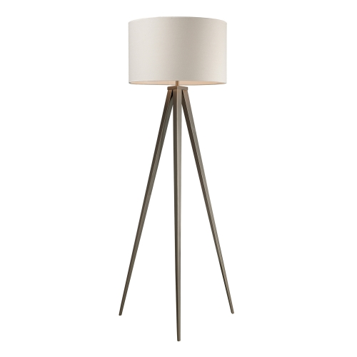 D2121 Salford Floor Lamp - Satin Nickel