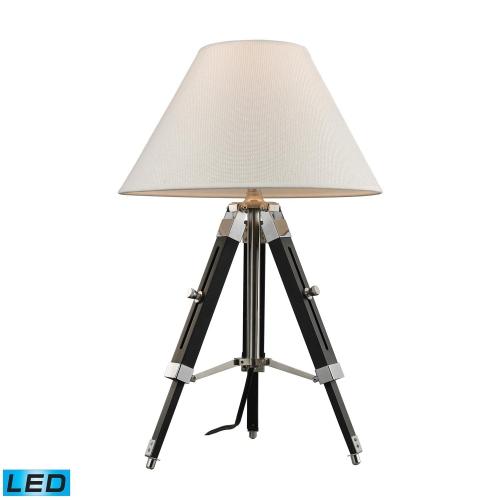 D2125-LED Studio Table Lamp - Chrome and Black