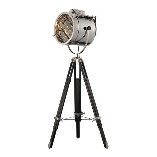 D2126 Curzon Floor Lamp - Chrome and Black