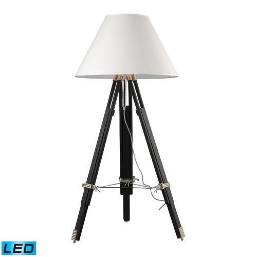 D2127-LED Studio Floor Lamp - Chrome and Black