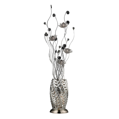 D2129 Cyprus Grove Floor Lamp - Chrome and Black