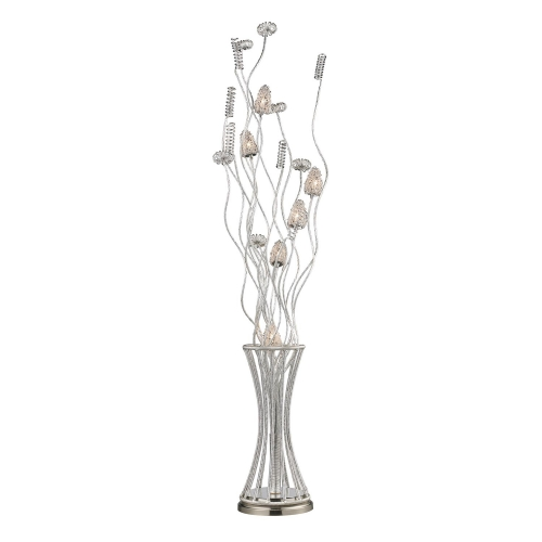 D2130 Cyprus Grove Floor Lamp - Satin Nickel
