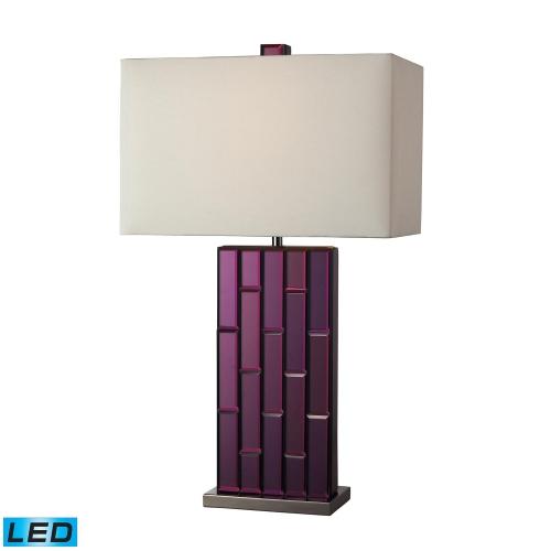 D2162-LED Avalon Table Lamp - Purple Mirror and Black Nickel