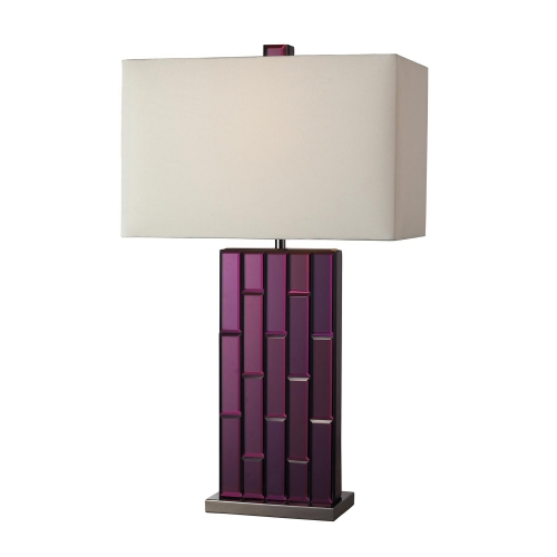 D2162 Avalon Table Lamp - Purple Mirror and Black Nickel