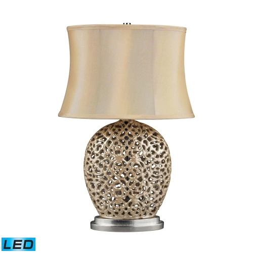 D2168-LED Serene Table Lamp - Pearlescent Cream