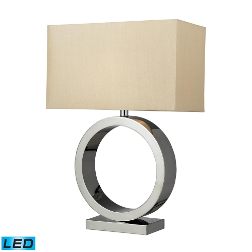 D2201-LED Aurora Table Lamp - Chrome