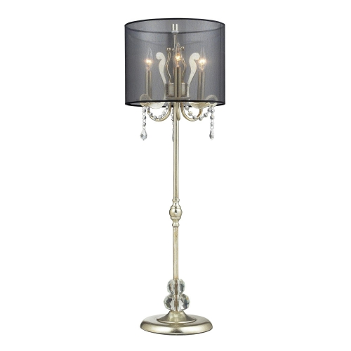 D2216 Andover Buffet Lamp - Silver Leaf
