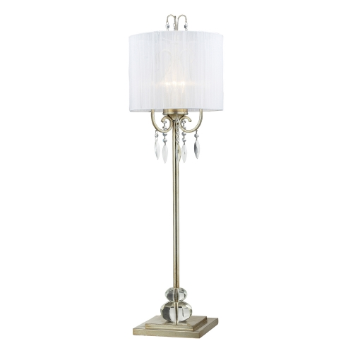 D2217 Albion Buffet Lamp - Silver Leaf