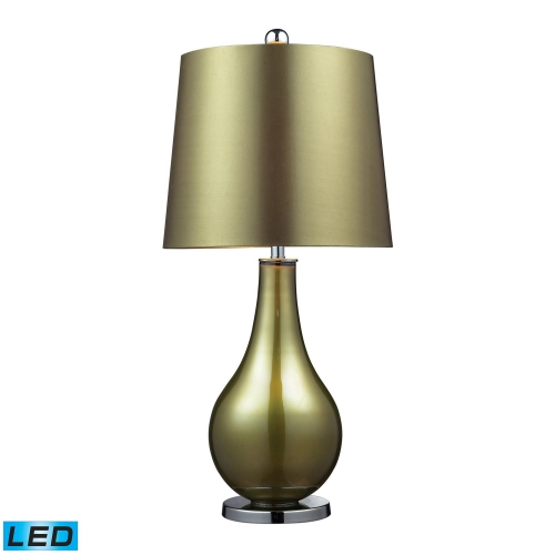 D2225-LED Dayton Table Lamp - Sigma Green . Polished Nickle