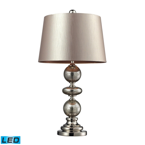 D2227-LED Hollis Table Lamp - Antique Mercury Glass and Polished Nickle