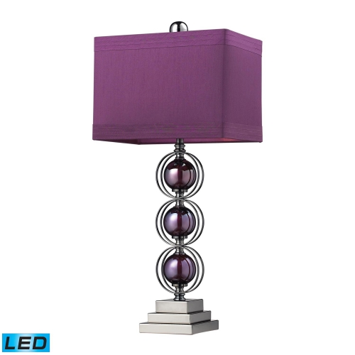 D2232-LED Alva Table Lamp - Purple / Black Nickle