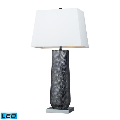 D2237-LED Milan Table Lamp - Black Pearl / Chrome