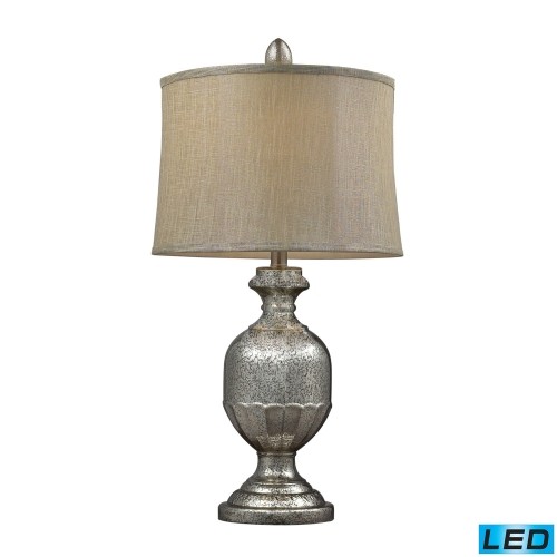 D2238-LED Emma Table Lamp - Antique Mercury Glass