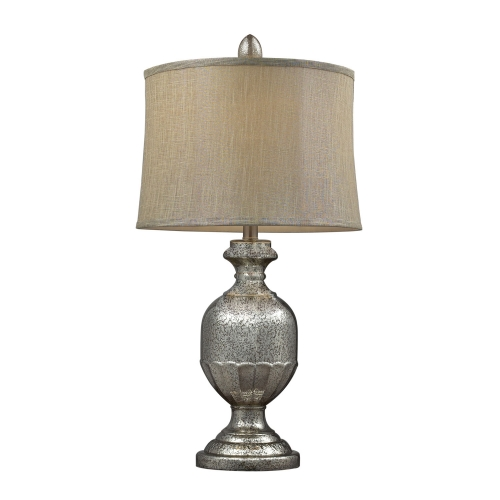 D2238 Emma Table Lamp - Antique Mercury Glass