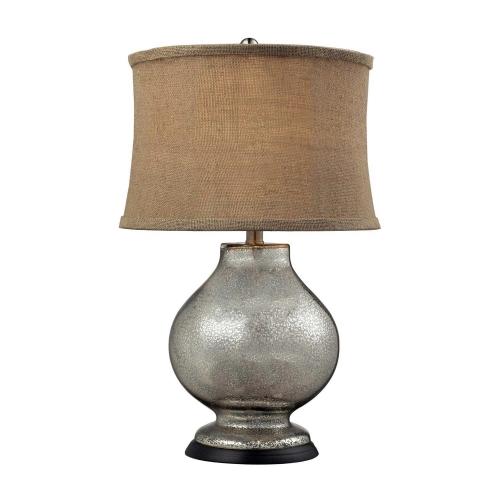 D2239 Antler Hill Table Lamp - Antique Mercury Glass
