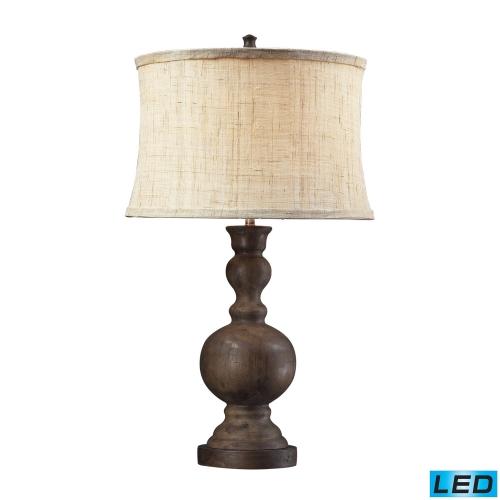 D2240-LED Arden Table Lamp - Dark Oak