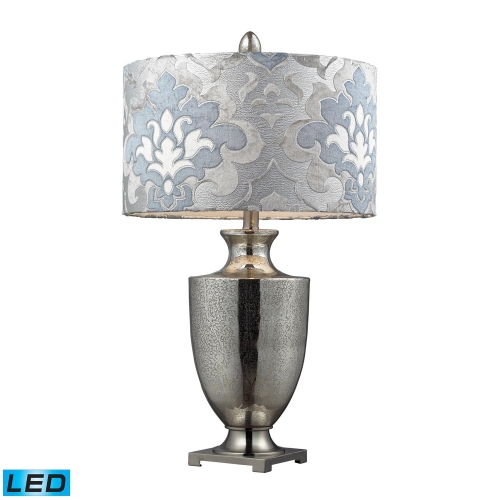 D2248P-LED Langham Table Lamp - Antique Mercury Glass with Polished Chrome