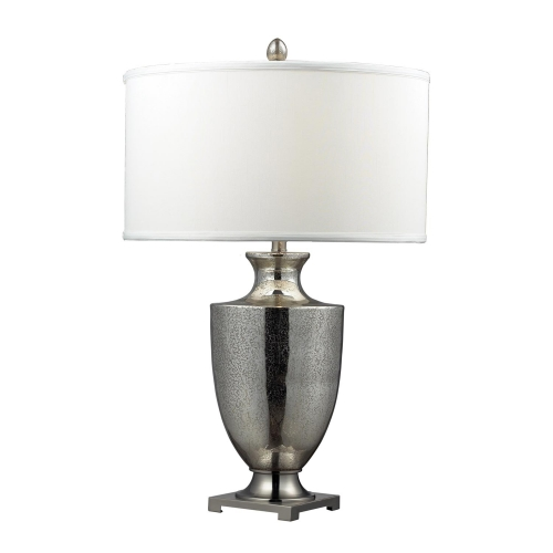 D2248W Langham Table Lamp - Antique Mercury Glass with Polished Chrome