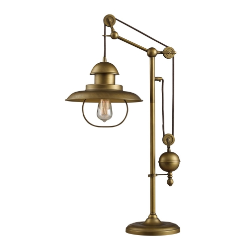 D2252 Farmhouse Table Lamp - Antique Brass