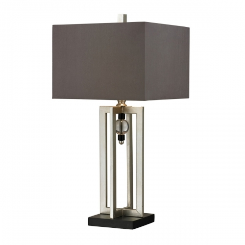 D228 Table Lamp - Silver Leaf/Black