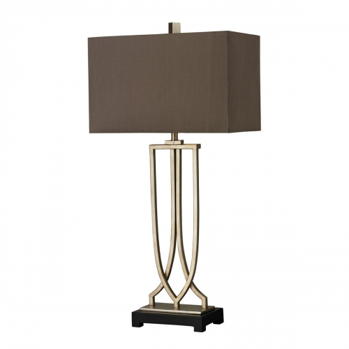 D229 Table Lamp - Antique Silver Leaf