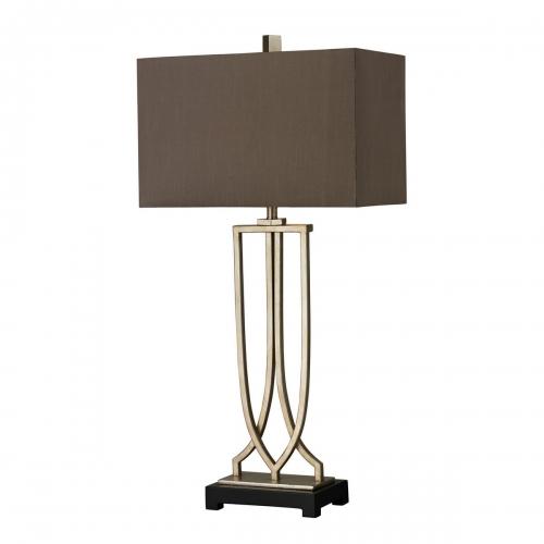 D229 Table Lamp - Antique Silver Leaf
