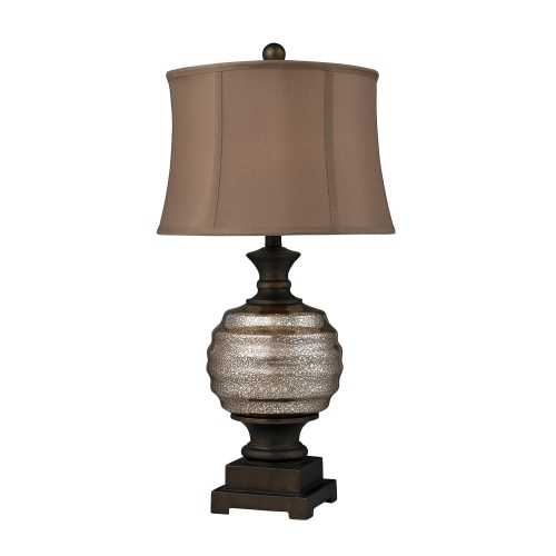 D2308 Grants Pass Table Lamp - Antique Mercury Glass and Bronze Accents