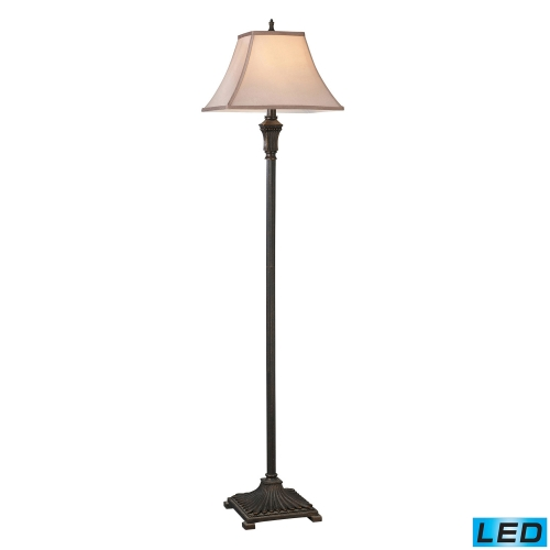 D2370-LED Woodbury Floor Lamp - Brown