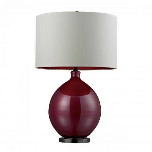 D268 Table Lamp - Pink, Black Nickel