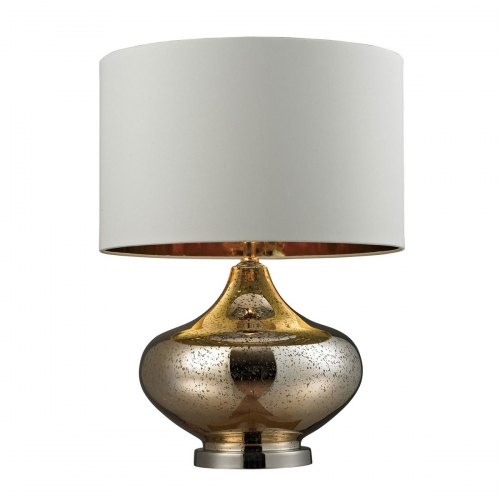 D269 Table Lamp - Gold Mercury Glass, Polished Nickel