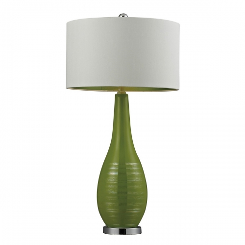 D272 Table Lamp - Lime Green with Silver Accents and Chrome Base