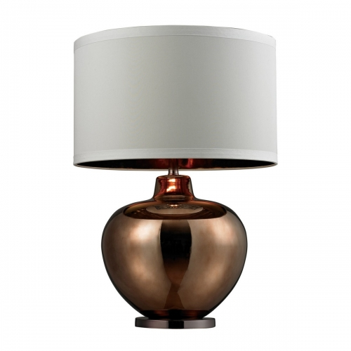 D273 Table Lamp - Bronze Plated Glass with Coffee Plated Base