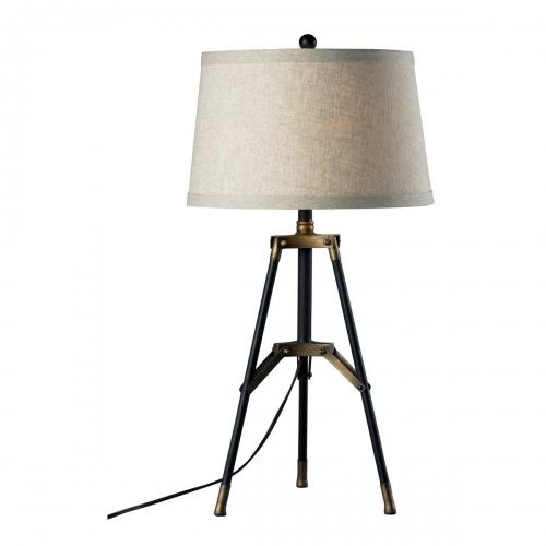 D309 Table Lamp - Restoration Black/Aged Gold