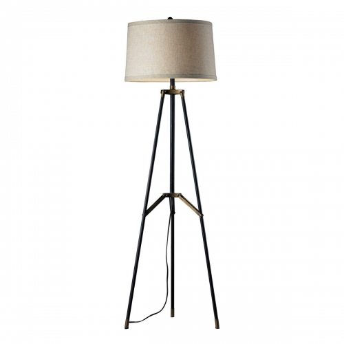D310 Floor Lamp - Restoration Black/Aged Gold