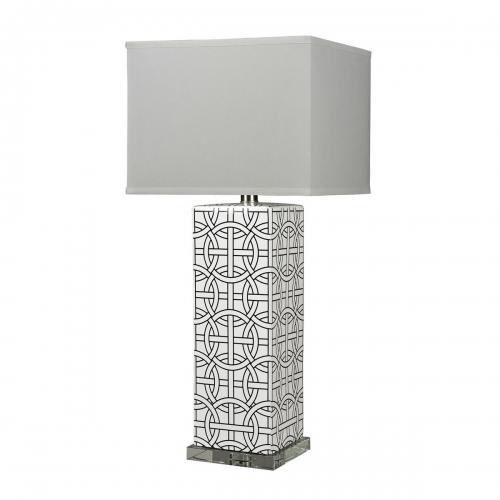 D314 Table Lamp - Gloss White/Royal Blue