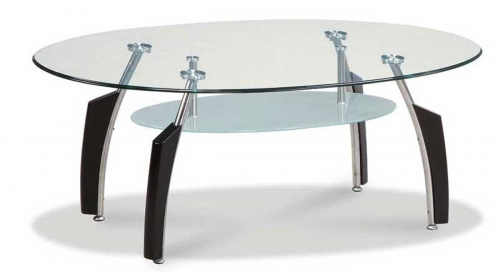 138 Coffee Table - Black/Chrome