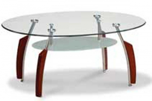 138 Coffee Table - Mahogany/Chrome